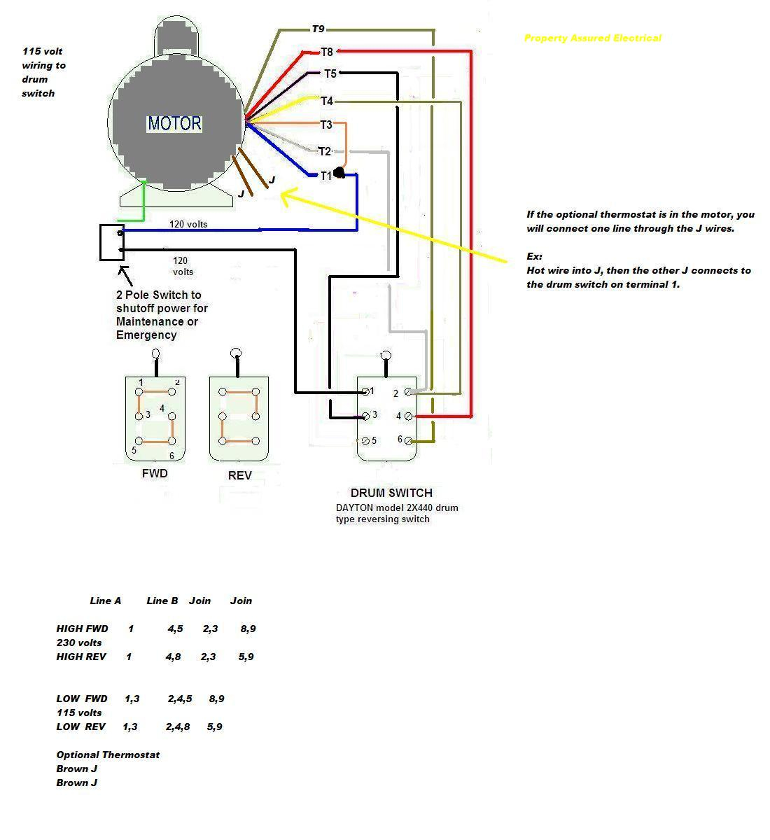 Dayton    Motor Wiring    Diagram     impremedia