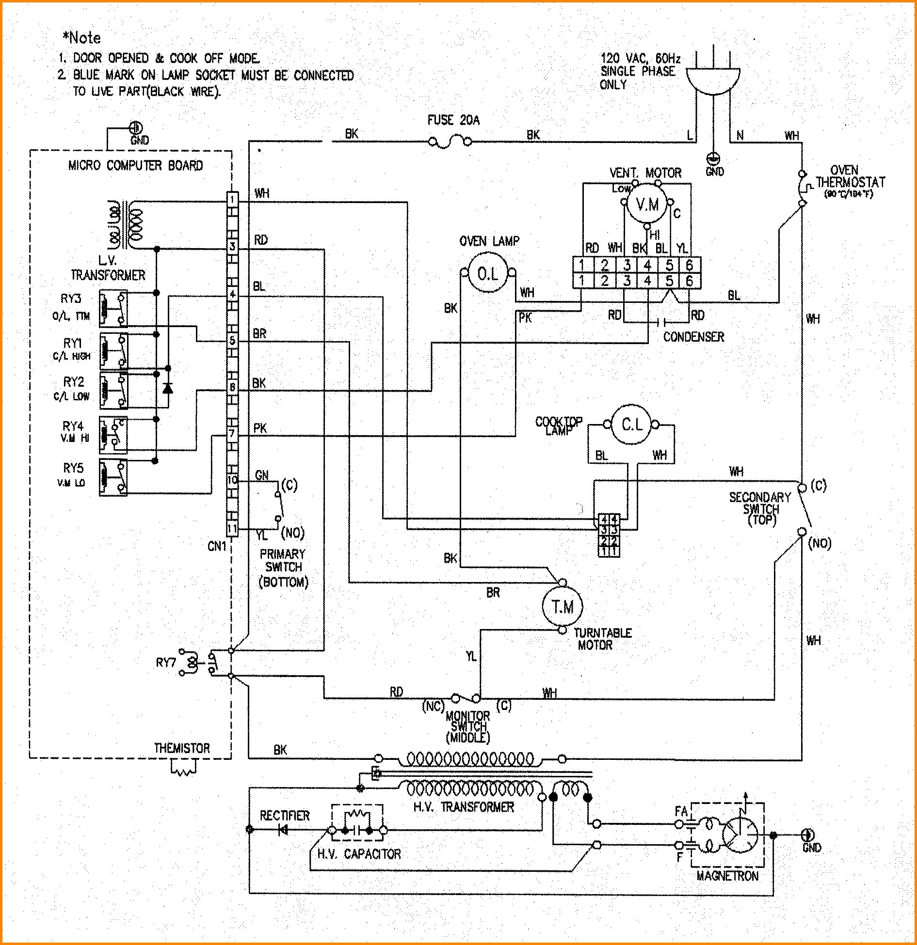 Roper Electric Range Wiring Diagram
