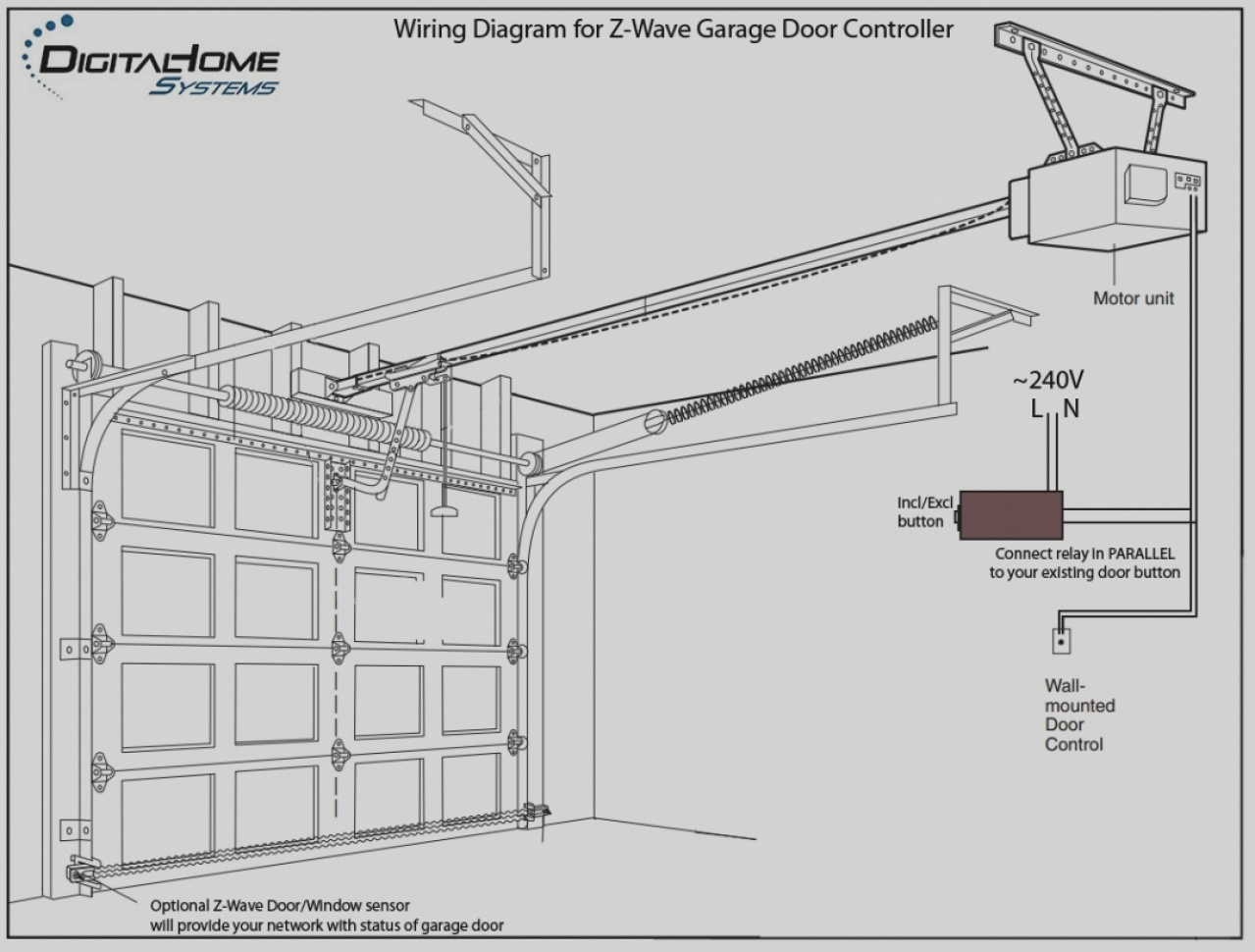 Genie Garage Door Opener Wiring Diagram Sample