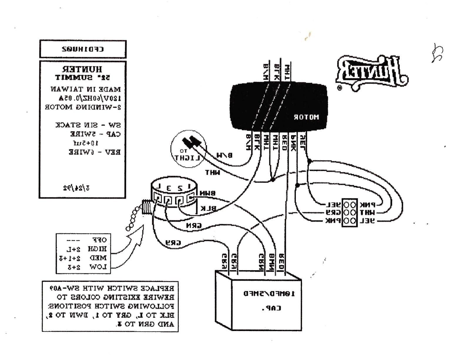 Hunter Ceiling Fan 3 Way Switch Wiring Diagram Sample
