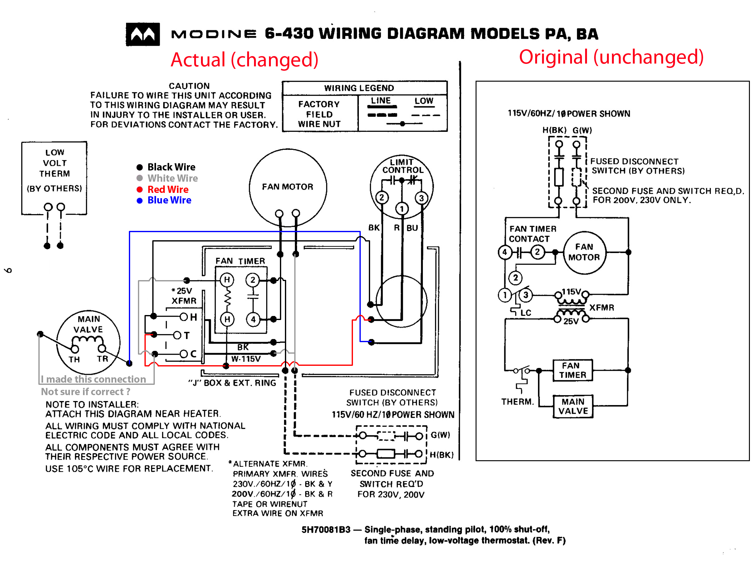 Modine Wiring Diagram - Wiring Liry Diagram H7