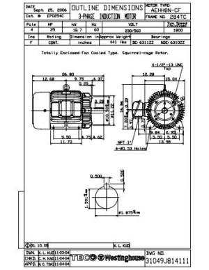 Teco Westinghouse Motor Wiring Diagram Gallery   Wiring