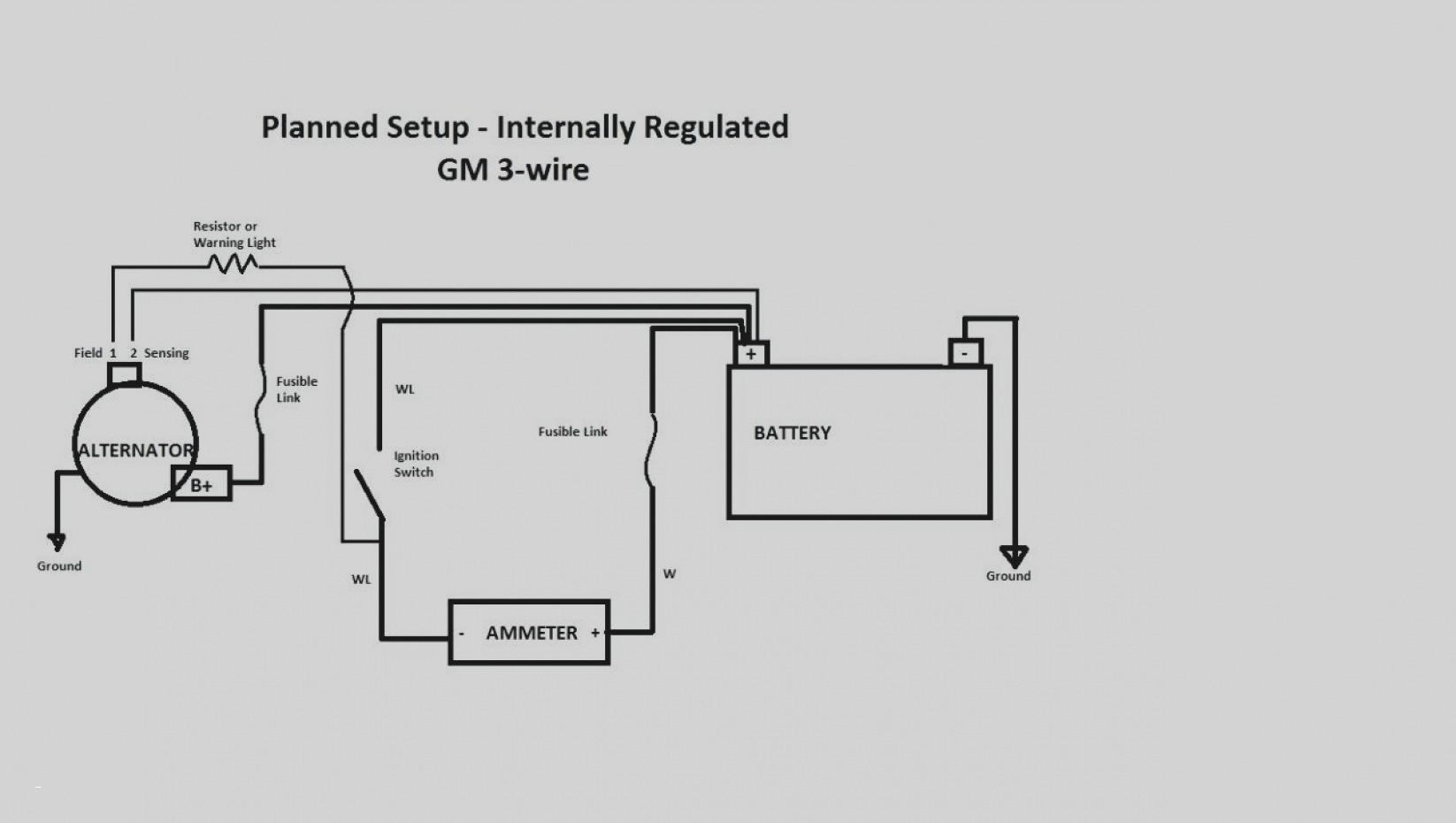 Gm Alternator Diagram