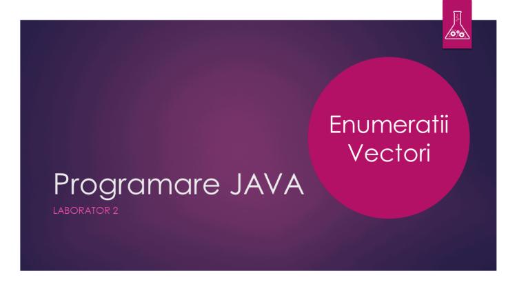 Programare Java - Laborator 2