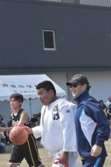 石巻市立渡波中学校運動会フェイスペインティングの画像
