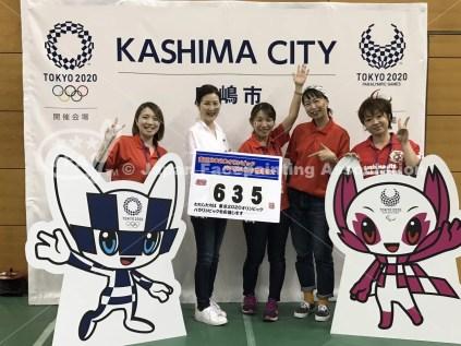 東京2020オリンピックに向けた鹿嶋市開催2年前イベント_フェイスペイントの画像