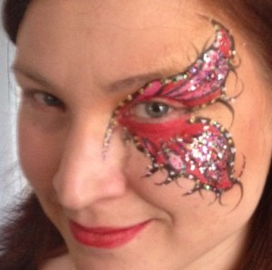 Mardi Gras Butterfly Wing Eye Design