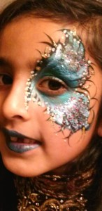 Glitter Butterfly Metallic Mardi Gras Eye Painting