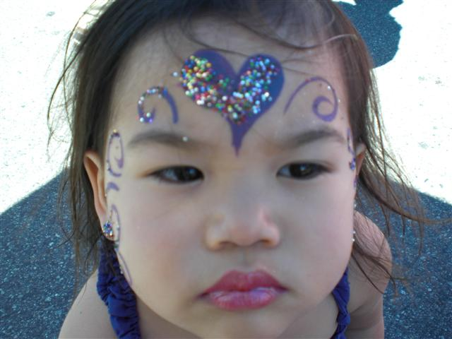 Blue Heart Sparkle Princess