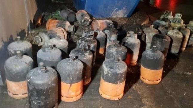 طنجة … حريق مهول إثر انفجار لقنينات غاز بمعمل للنسيج