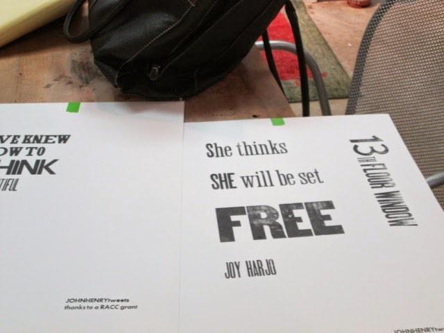 "Printed Poster ""free"""