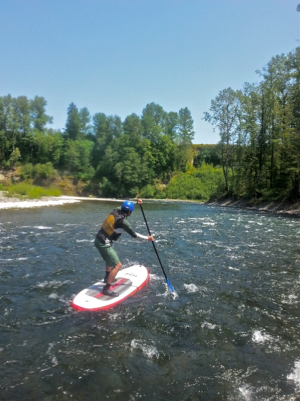 Paddle Board on River