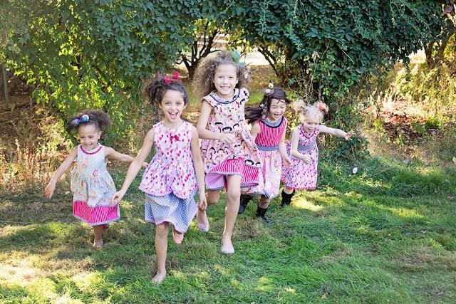 Children running in Tati & Me clothing