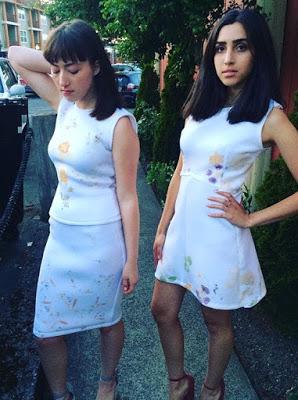 Models in flower printed dresses