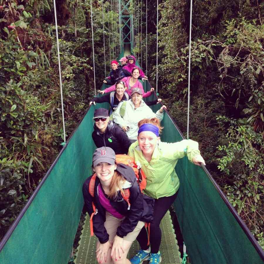 Women on Suspension Bridge