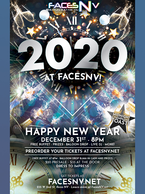 New Years Eve FacesNV Event