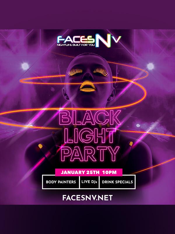 FACESNV - Blacklight Party - Jan 25th