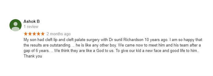 Google Review by Ashok B