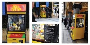 vending machine advertisement, guerrilla marketing examples, marketing advice, visual marketing, experiential marketing