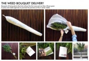 weed bouquet, joints, MMJ, medical marijuana, recreational marijuana, marijuana gifts, guerrilla marketing, weird marketing, marketing advice