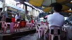 Dining on kids chairs in Yangon.