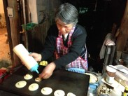 Leng the banana pancake lady on the street. Kevin and G got addicted. We went every night for her goodness.