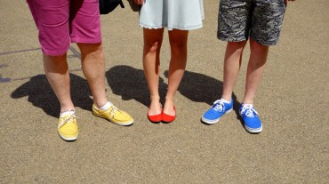 Primary color shoes
