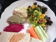 Om Garden Mezze plate