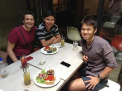 Mark, Anon and Chuan in Malacca.