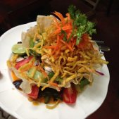 the Khao Soi Salad at Om Garden Cafe in Pai.