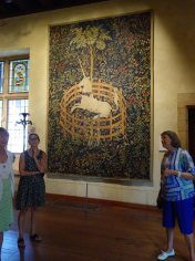 Unicorn tapestry at Cloisters Museum, NY