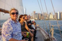 Sailing on the Adirondack in New York Harbor