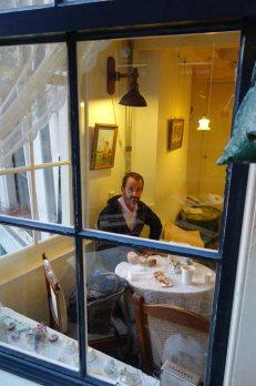 John in the cafe