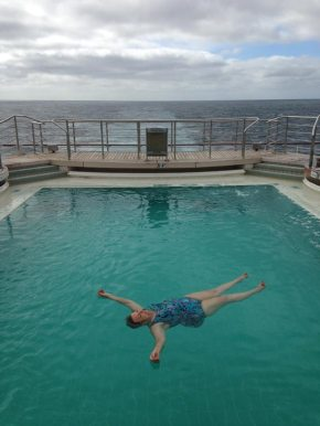 Nothing like floating in the middle of the Atlantic and living to tell about it.