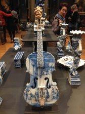 Delft ceramic violin.