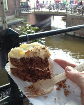 Carrot cake at our fave place.