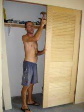 Hanging doors was the hardest part.