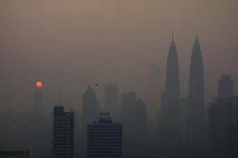 Goodbye to the haze from hell.