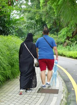 Goodbye to seeing poor Arab women tortured in black polyester burqas in 95 degree heat while their husbands are in shorts and t-shirts.
