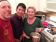 with Jean in the kitchen