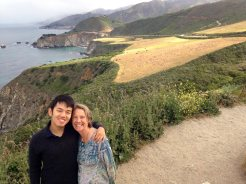 with January in Big Sur