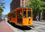 vintage street cars in SF - full of drunk and homeless people. Cute but not practical.