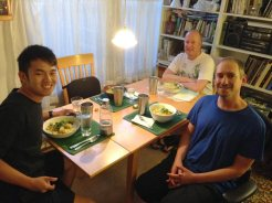 dinner with Steven Baratz and Patchez of Light