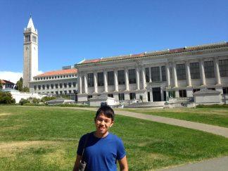 at UC Berkeley campus