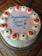 The pre-nuptial cake from Robin, Greg & Andrew. Thank you guys!!