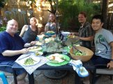 Farewell dinner at Casa Mariposa with Jeff, Steve, Travis B and Travis A.