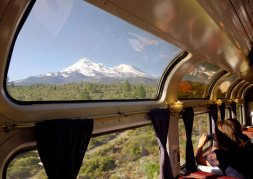 Mt. Shasta as seen from the Coast Starlight northbound to Portland