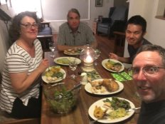 """with Angela and Jeff at """"family dinner"""""""