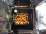 The bachelor buffet. My SunOven version of Beenie Weenies.
