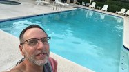 Up early at the pool.